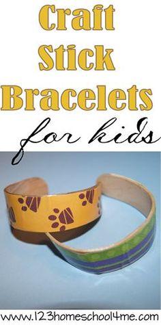Craft Stick bracelets kids activities perfect for summer bucket list