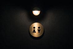 Interior signage designed by UMA for U2's Onomichi based Hotel Cycle.