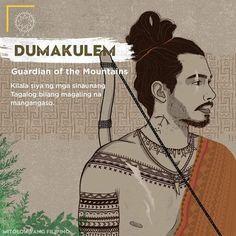 "Dumakulem ""Guardian of the Mountains"" - The Philippines Today Filipino Words, Filipino Art, Filipino Culture, Filipino Tattoos, Philippine Mythology, Philippine Art, Mythological Creatures, Mythical Creatures, Cultura Filipina"