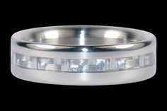 Hawaii Titanium Ring Style CF1NW Narrow White by Hawaiititanium, $287.50