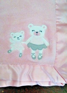 Blankets /& Beyond Cuddly Pink Soft Plush Fleece Blanket with Ballet Slippers