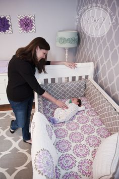 purple-gray-nursery-crib1.jpg 366×550 pixels