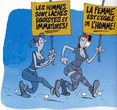 le féminisme. I would only call the women with the read headband a feminist ;)