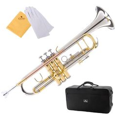Cecilio 3Series Tt-380Cn Nickel Plated Intermediate Double-Braced Bb Trumpet With Monel Valves + Case, Mouthpiece And Accessories, 2015 Amazon Top Rated Trumpets #MusicalInstruments