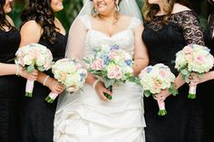 Emily & Nick | Wedding in Tampa Bay | Pink blue and white bouquet. #andrealaynefloraldesign #tampaweddings