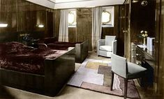 Ss normandie suite cool wooden panneling n colour use very chic