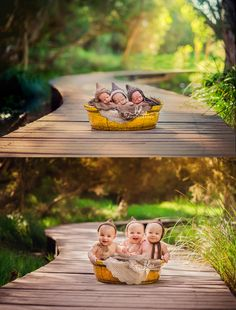 triplets photography newborn.... I want to do this so bad with my cousins when they are born!!