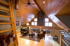 Loft - traditional - family room - minneapolis - Lands End Development - Designers & Builders