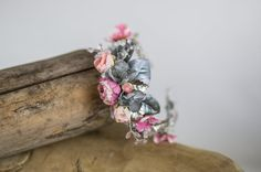 Half Wreath flower head wreathfloral head by MagaelaAccessories