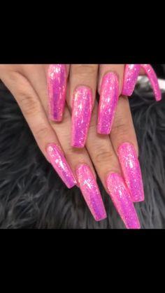 Classy Acrylic Nails, Pink Acrylic Nails, Rose Gold Nails, Glitter Nails, Coffin Nails Long, Long Nails, Perfect Nails, Gorgeous Nails, Sweet 16 Nails
