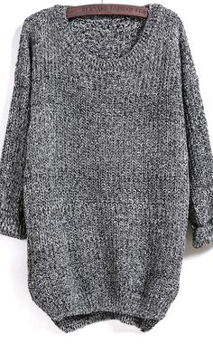 Stay warm with this grey sweater
