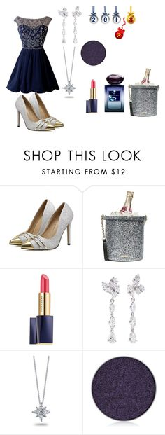 """""""New Year's Navy"""" by coolb92 on Polyvore featuring Kate Spade, Estée Lauder, Anyallerie, Kwiat, Anastasia Beverly Hills, Giorgio Armani, NewYears, Silver, party and navy"""