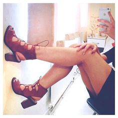 These suede lace up heels #RiverIsland