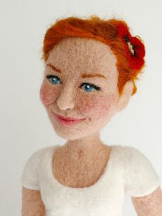 Personalisierte Nadel Gefilzte Puppe von FforFelt auf Etsy, $350.00