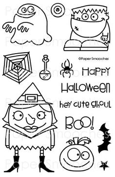 Paper Smooches Stamps: Halloweenies