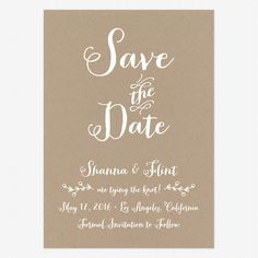 Rustic Country Save the Date Postcards www.lovevsdesign.com