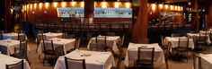 VIC'S MINNEAPOLIS showcases the sparkling skyline of Downtown Minneapolis along cobblestone Historic Main Street with floor-to-ceiling windows, huge open-air deck, historic wooden rafters  sleek Italian plaster curved bar and is located at the entrance of Waterpower Park at St. Anthony Falls on the Mighty Mississippi.