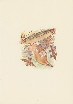 Beatrix Potter, The Tale Of Peter Rabbit, Peter Runs From Mr. McGregor Basket And Hides In Watering Can, USA, Antique Children Print. $10.00, via Etsy.