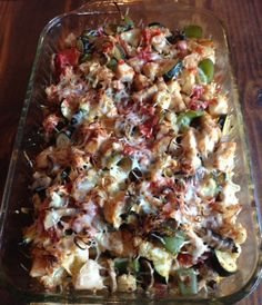 Roasted Vegetable and Chicken Casserole - so good!!  Healthy Food Nerd: Healthy comfort food