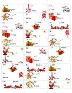 Free Christmas Gift Tag Printable ~ Print either on card stock & cut ...