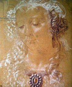 Portrait of Isabella d'Este (pastel & crayon)