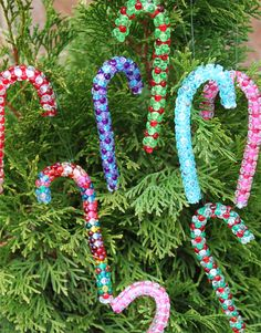 Candy Cane Crafts; a Sweet Beaded Ornament