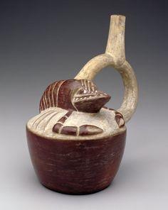 .Vessel with Lobster Motif  Artist Unknown (Moche) (Peru, South America), 400-499. Repinned by Elizabeth VanBuskirk