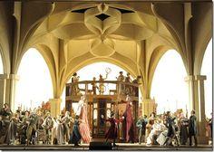 Stage set from Lyric Opera of Chicago's Die Meistersinger von Nürnberg.