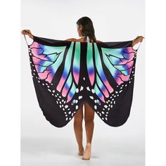 Butterfly Print Beach Wrap Cover Up Dress Butterfly Swimming, Hawaii Outfits, Beach Wrap, Summer Bikinis, Print Wrap, Butterfly Print, Green Dress, Cover Up, Clothes For Women