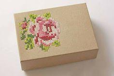 Handy crafts: التطريز على العلبة من الألف الى الياء