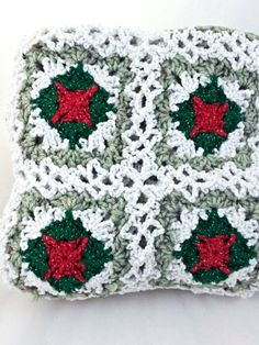 Holiday Throw Christmas Blanket Afghan by YarnedTogether on Etsy, $65.00