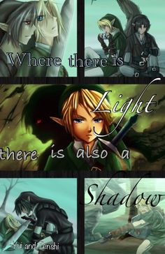 Legend of Zelda, Shadow and Links story. The quote is made by my friend Yui and I put it all together.