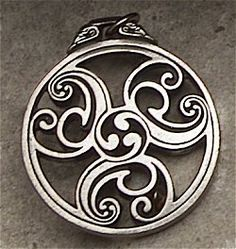 Celtic Triscele: The Triscele was a sacred symbol to the Celtic People. It represents the eternal rhythm of life that we are all a part of. This ancient symbol adorned their most sacred places representing the trinity of life, most significantly, it represents the Goddess in all her forms ~ Maiden, Mother & Crone.