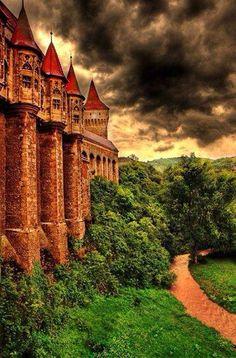 Hunyad castle Transylvania. Romania