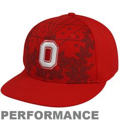 bf6cf00ae15 Flat Bill Red Nike Ohio State Hat. Show off the pride and legacy of Buckeyes  basketball when you sport this Aerographic performance flex fit hat from  Nike.