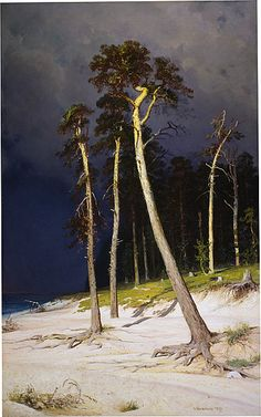 Ivan Shishkin, A Sandy Coastline. 1879. on ArtStack #ivan-shishkin #art