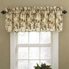 Waverly Napoli Window Valance in Cameo Features:Color: Cameo.Elegant style with modern accents.Perfect for kitchen, bedroom, living room or bath. Kitchen Window Valances, Kitchen Window Treatments, Kitchen Curtains, Window Cornices, Bathroom Curtains, Cotton Curtains, Drapes Curtains, Nursery Curtains, Small Windows