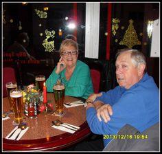 Dags för en bit mat på en restaurang i närheten av vårt hotell. Skönt att sitta ner och koppla av med en öl. Guns bild.