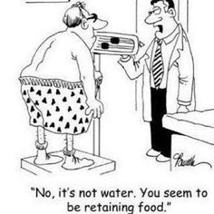 Are you retaining water?  #EmployeeWellness #iFacts Medical Humor, Nurse Humor, I Love To Laugh, Make Me Smile, Smile Smile, Funny Cartoons, Funny Jokes, It's Funny, Cartoon Humor