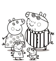 peppa pig family coloring pages Nick Jr Coloring Pages, Peppa Pig Coloring Pages, Family Coloring Pages, Christmas Coloring Pages, Colouring Pages, Printable Coloring Pages, Coloring Pages For Kids, Coloring Books, Kids Colouring