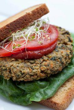Alkaline Veggie Burger - <3 Kimberly Snyder