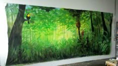 jungle book backdrops for school plays | Jungle Backdrop by Tracy Ostmann