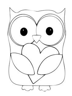 Valentine Day Owl Hugging a Heart Coloring page from Owls category. Select from 20890 printable crafts of cartoons, nature, animals, Bible and many more.