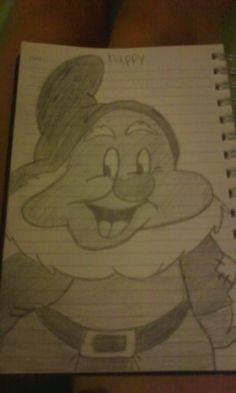 happy #happy #sevendwarves #snowwhite #disney #drawing #art Drawing Art, My Drawings, Snow White, Cartoon, Disney, Happy, Fictional Characters, Snow White Pictures, Ser Feliz