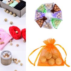 6 Pcs One Bag Natural Cedar Repellent Moth Camphor Balls Bureau Aromatic Home Deodorization Clothes Wood Beads