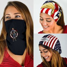 Neck Gaiter,Balaclava Headwear,Bandana Patriot Trump Multifunctional Headband Sports Magic Scarf