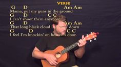 Knocking On Heaven's Door (Bob Dylan) Baritone Ukulele Cover Lesson with...