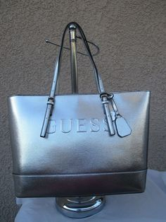 214bb495b0 Purse Bag Handbag Guess Tote Color Silver Style FF628625 Group Peak Brand  New  GUESS