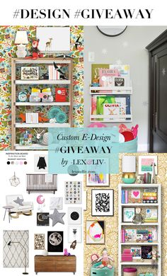 Design giveaway by a favorite stylist: Lex & Liv Design (www.lexandliv.com)