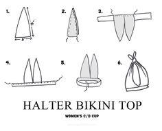 Halter and High Waist Bikini DIY